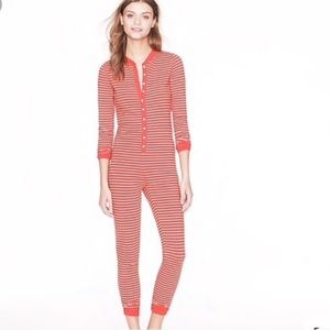 J Crew Union Suit Onesie Pajamas PJ
